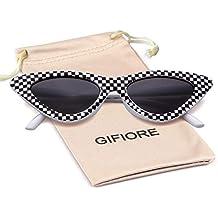 a937dc16f4 Retro Vintage Cateye Sunglasses for Women Clout Goggles Plastic Frame  Glasses
