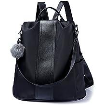 d770c7ae4166 Women Backpack Purse Waterproof Nylon Anti-theft Rucksack Lightweight  Shoulder Bag