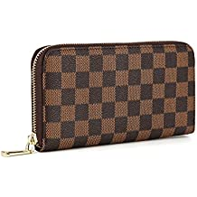 0b6bde73a1ec Women's Checkered Zip Around Wallet and Phone Clutch - RFID Blocking with  Card .