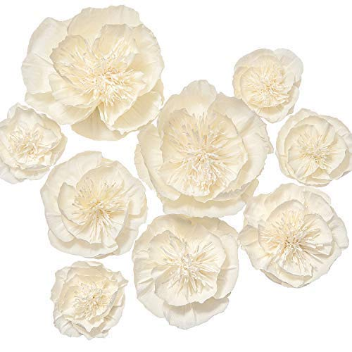 Buy Lings Moment Paper Flower Decorations Set Of 98 4 Assorted Handcrafted Artificial Crepe Paper Peony For Wall Nursery Wedding Backdrop Bridal Shower Centerpiece Monogram 15th Birthdaycream Online In South Africa B071vc54yn