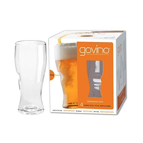 Buy Govino Go Anywhere Dishwasher Safe Beer Glasses Flexible Shatterproof Recyclable, 16-ounce, Set of 4 Online in South Africa. B00XCHXDIO
