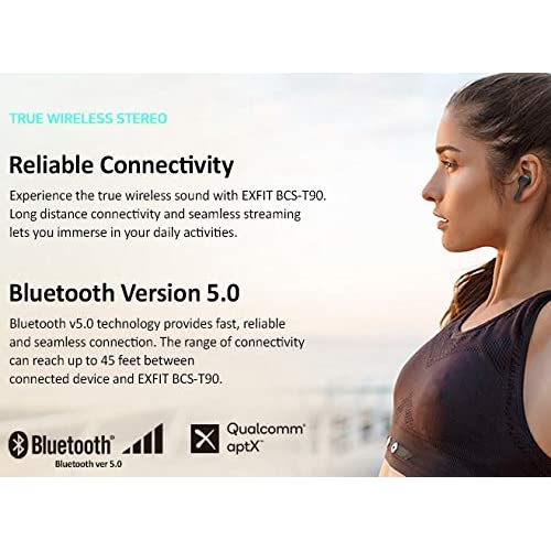 Buy EXFIT BCS-T90 True Wireless Stereo Earbuds, 24 Hours Battery