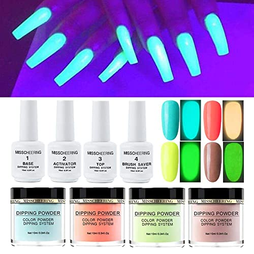 Buy Mogoi Luminous Nail Dipping Powder Kits 4 Colors