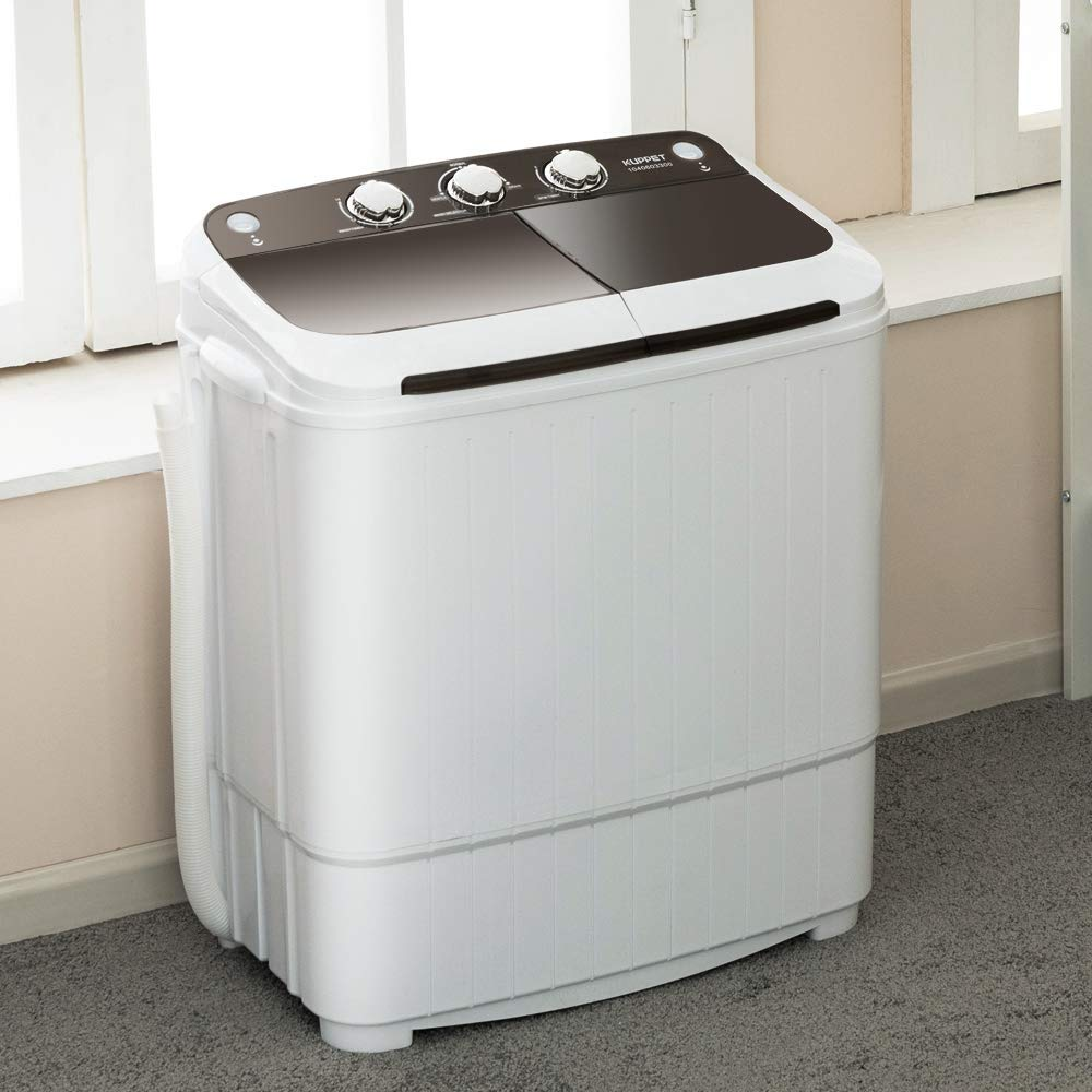 Portable Washing Machine, KUPPET 16.5lbs Compact Twin Tub ...