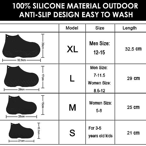 0f62375825c3f Buy LEGELITE Reusable Silicone Waterproof Shoe Covers, No-Slip ...