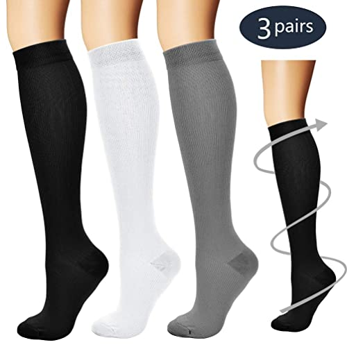 c0091bd3a3ef7 Buy Laite Hebe Compression Socks,(3 Pairs) Compression Sock Women ...