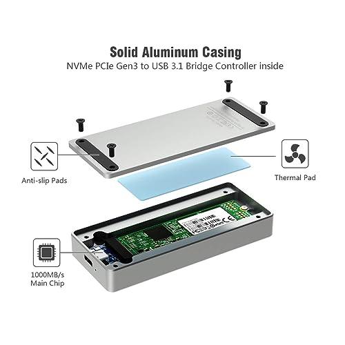 Buy NVMe PCIe M 2 SSD to USB 3 1 Gen2 Enclosure - ElecGear