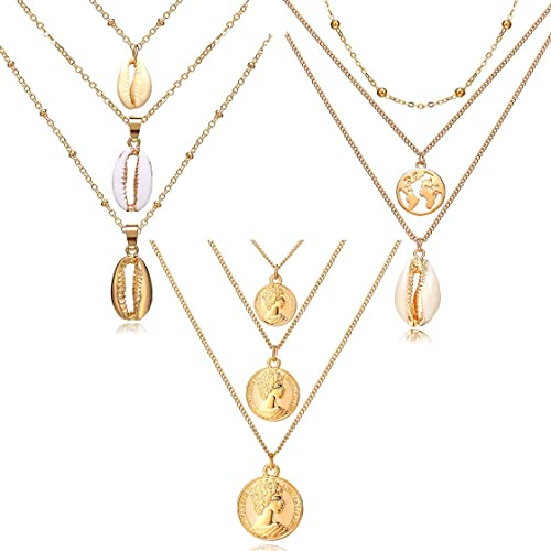 Buy 17KM 3pcs Natural Shell Pendant Necklace for Women