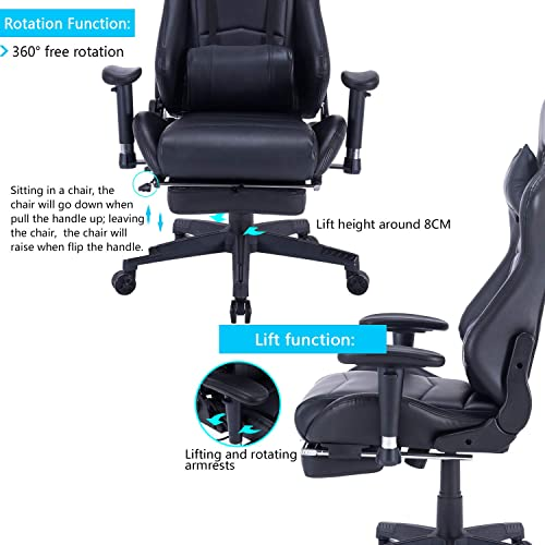 Pleasing Buy Healgen Back Massage Gaming Chair With Footrest Pc Gmtry Best Dining Table And Chair Ideas Images Gmtryco