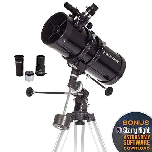 Celestron - PowerSeeker 127EQ Telescope - Manual German Equatorial Mount -  Telescopes for Adults - Compact and Portable - BONUS Astronomy Software