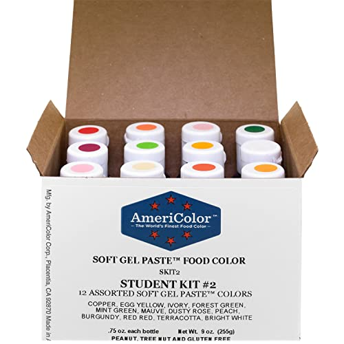 Buy Food Coloring AmeriColor Student - Kit 2 12 .75 Ounce Bottles ...