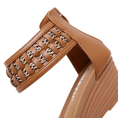 59f8fb371b2ec Buy BOJIN Womens Wedge Sandals Open Toe Espadrille Slides with ...