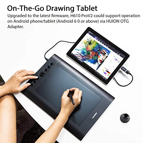 Buy Android Supported HUION H610 Pro V2 Drawing Tablet
