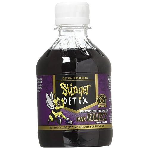 Stinger 1-Hour Detox Liquid Drink 5x Strength Grape 8oz 2PK The Buzz  Cleanser