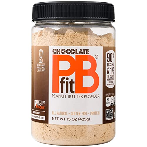 463278c0ed02 PBfit All-Natural Chocolate Peanut Butter Powder 15 Ounce, Chocolate and  Peanut Butter Powder from Real Roasted Pressed Peanuts and Cocoa, Low in  Fat ...