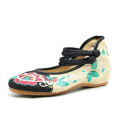 53cbaae4c55bb CINAK Embroidered Flats Shoes Women's Chinese Embroidery Ballet Lofers Slip  on Comfortable Bohemia