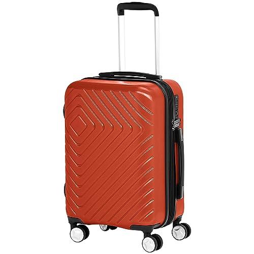 cb52f94d980e Buy AmazonBasics Geometric Luggage Expandable Suitcase Spinner with ...