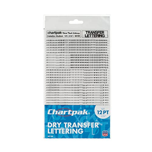 Buy Chartpak Dry Transfer Letters and Numbers, 12PT