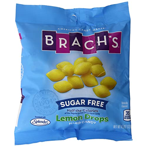 Brach's Sugar Free Lemon Drops Hard Candy, 4 5 Ounce Bag (Pack of 12)