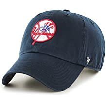 differently 31c23 82626 New York Yankees Hat MLB Cooperstown Logo Authentic 47 Brand Clean Up  Adjustable .