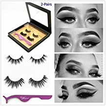 a90ea8be97a Miss Kiss 3D Mink lashes, Invisible Band and Black Band False Eyelashes  Strips, .