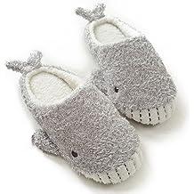 f46ab0cdde5f HALLUCI Women  39 s Cozy Fleece Memory Foam House Trick Treat Halloween  Slippers