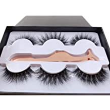8a55f8b5761 3 Styles Fluffy Mink Eyelashes 100% Siberian 3D Mink Fake Lashes  Cruelty-Free .