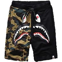 dcccc51c5 Big Mouth Shark Ape Bape Camo Mens Casual Sports Pants Fashion Jogger Shorts
