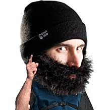 13aa7e0d9ce2a5 Beard Head Bushy Biker Beard Beanie - Funny Knit Hat and Fake Beard Facemask