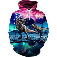 fbff36224 Uideazone Men Women 3D Printed Plus Velvet Hooded Sweatshirt Casual Pullover  Hoodie .