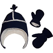 af45857b9 N'Ice Caps Little Boys and Baby Sherpa Lined Micro Fleece Pilot Hat