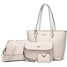 74f71dcb0 ELIMPAUL Women Fashion Handbags Tote Bag Shoulder Bag Top Handle Satchel  Purse Set .