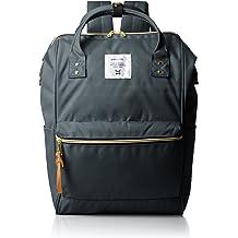8639a104d40 Japan Anello Backpack Unisex Regular Size Rucksack Canvas Bag (Charcoal  Gray)